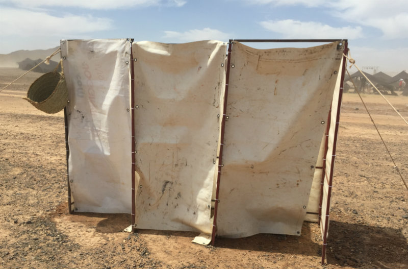 Marathon des Sables Camp Toilets