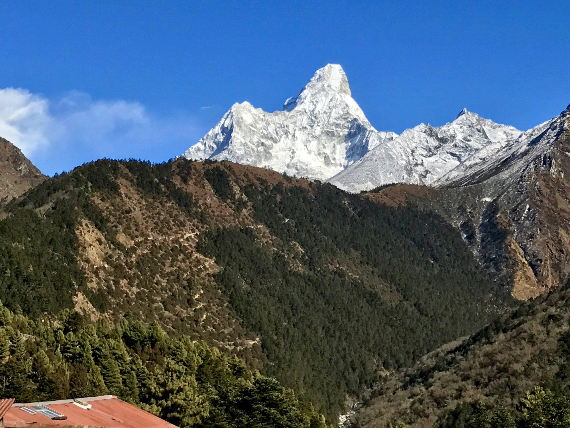 View of trail from Tengboche