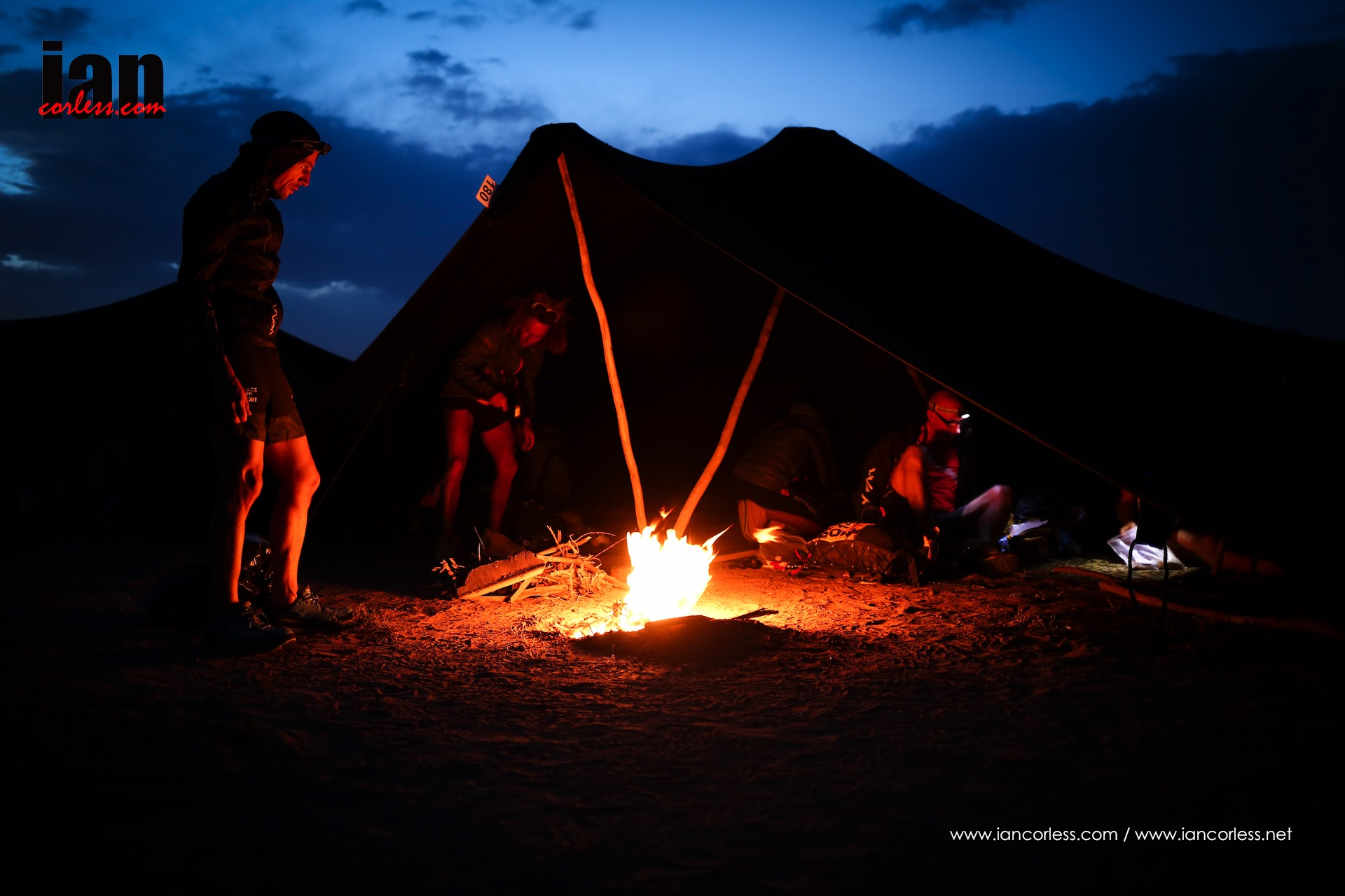 Marathon des Sables camp at night