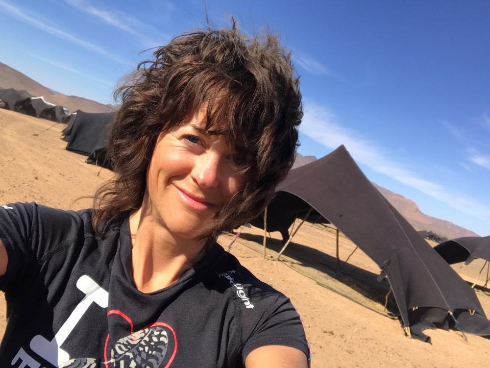 Elisabet Barnes Marathon des Sables Bivouac