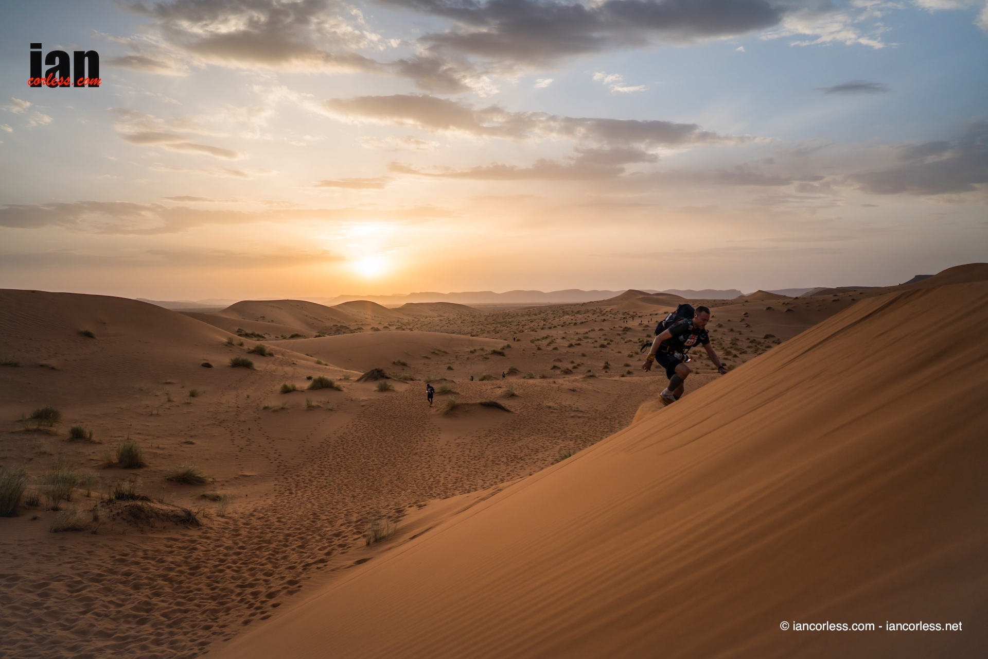 Marathon des Sables sunset dunes