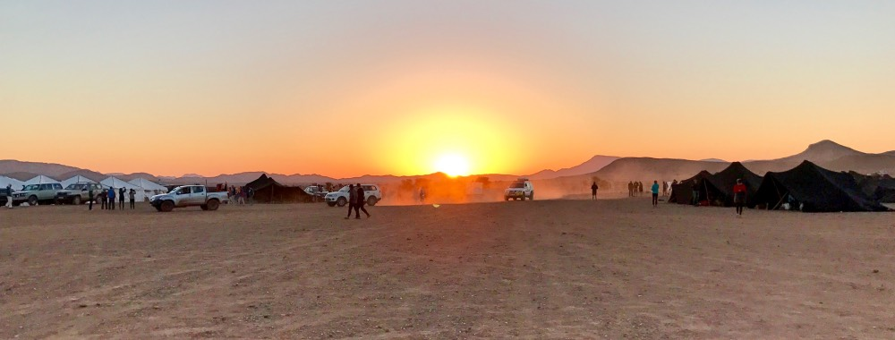 Marathon des Sables camp Bivouac sunrise Elisabet Barnes