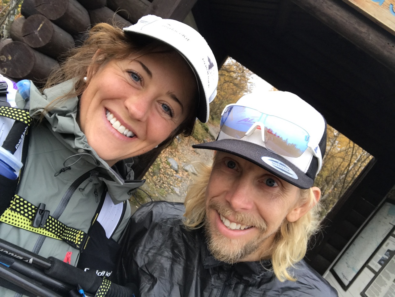 Elisabet Barnes and Sondre Amdahl at start of Kungsleden