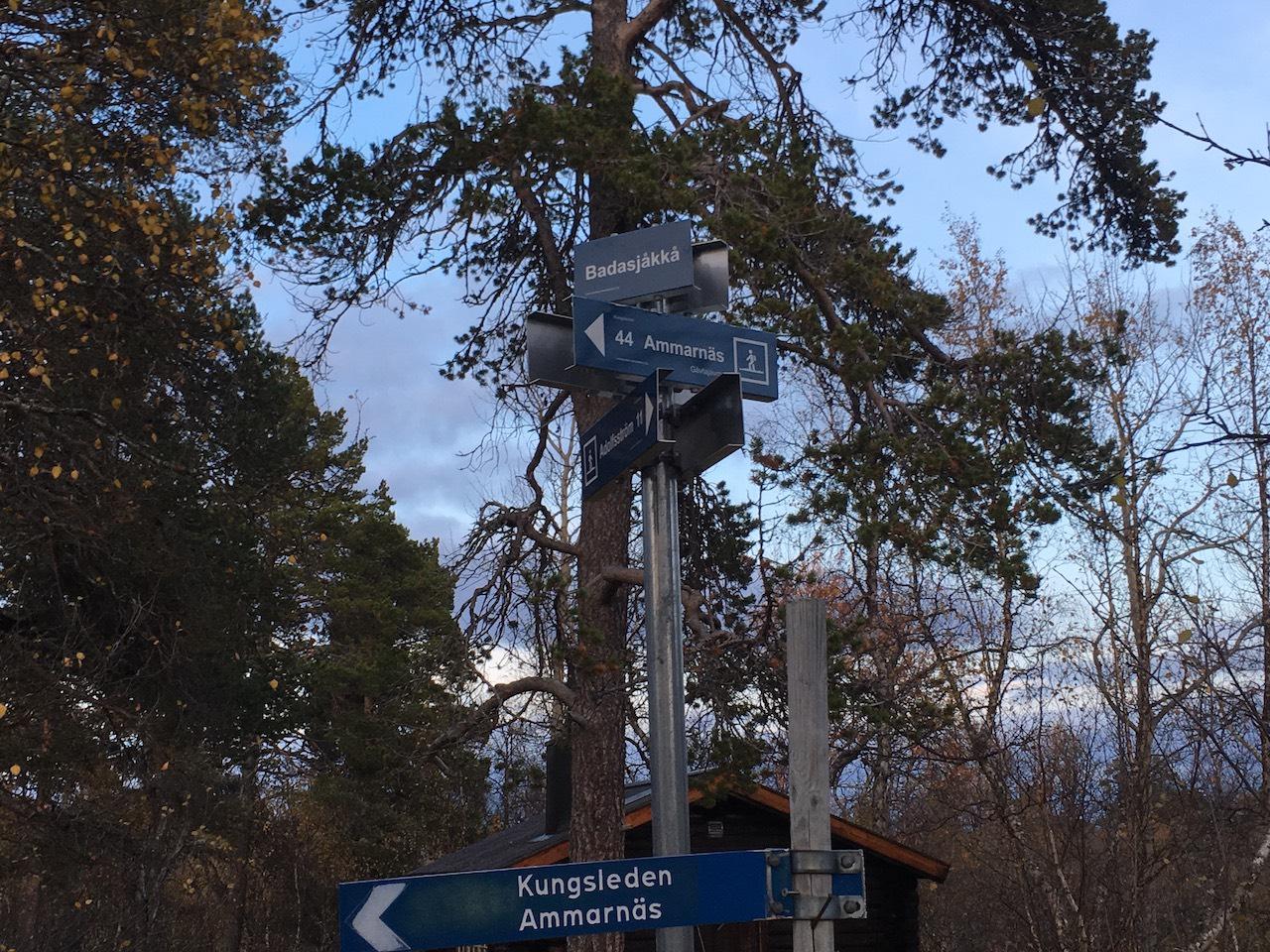 Kungsleden Trail Signs