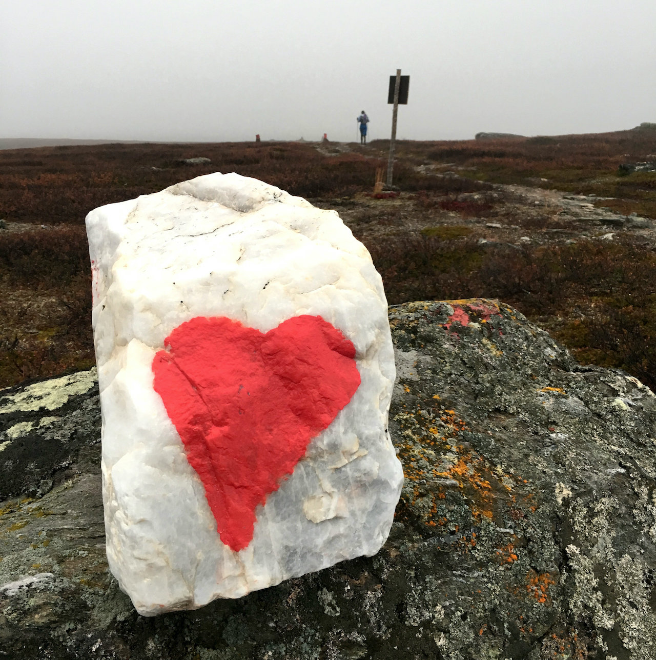 Kungsleden Stone with Heart