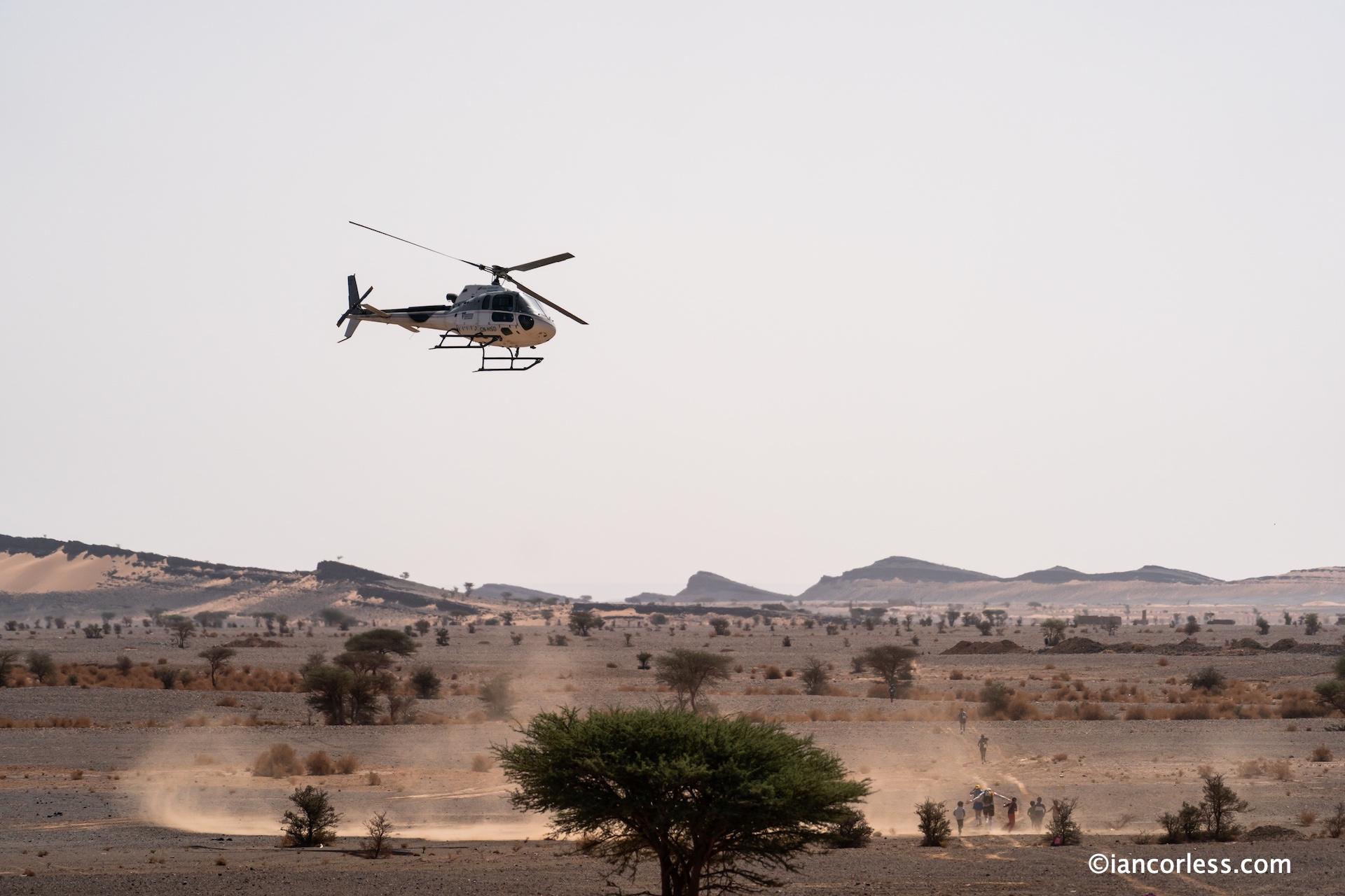Marathon des sables helicopter